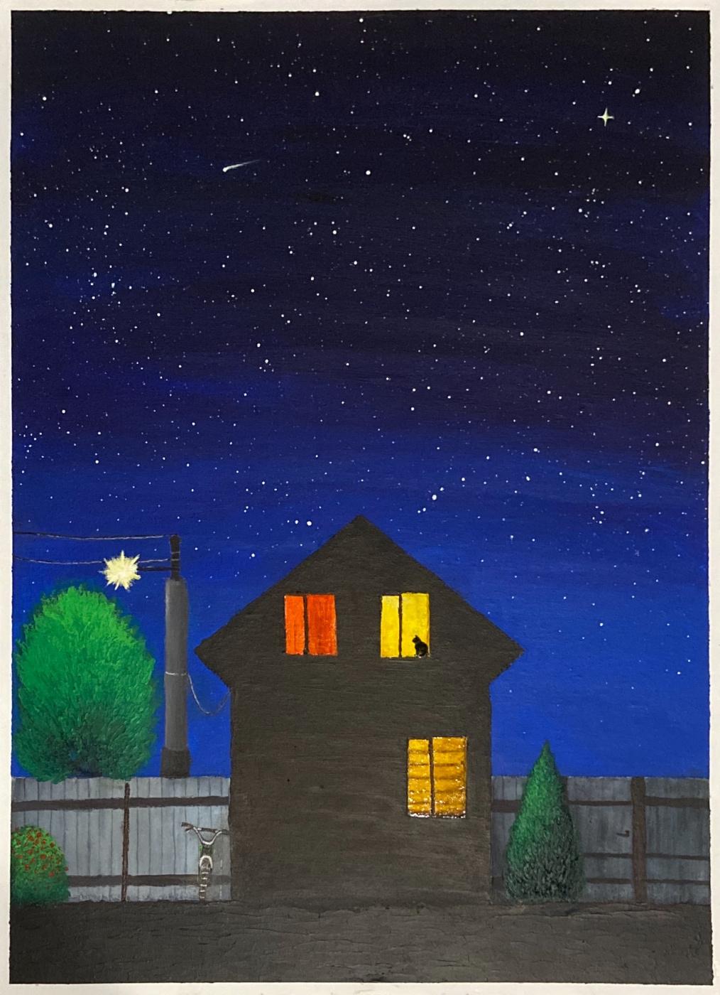 Diana Gulevskaia. Works written by acrylic
