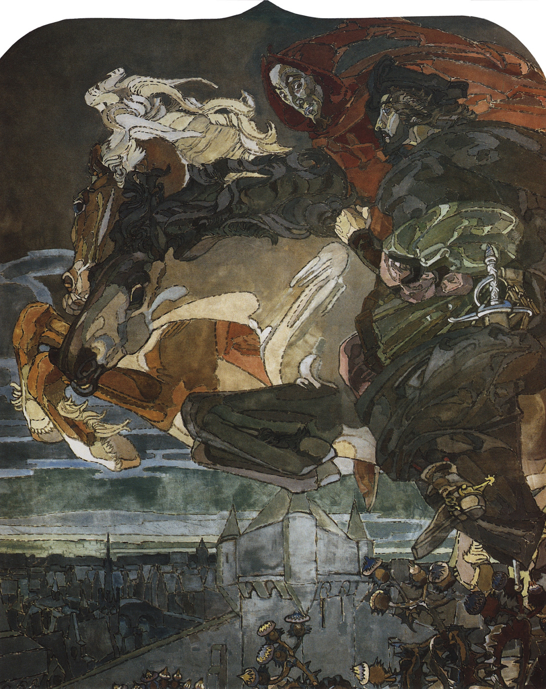 Mikhail Vrubel. Flight of Faust and Mephistopheles