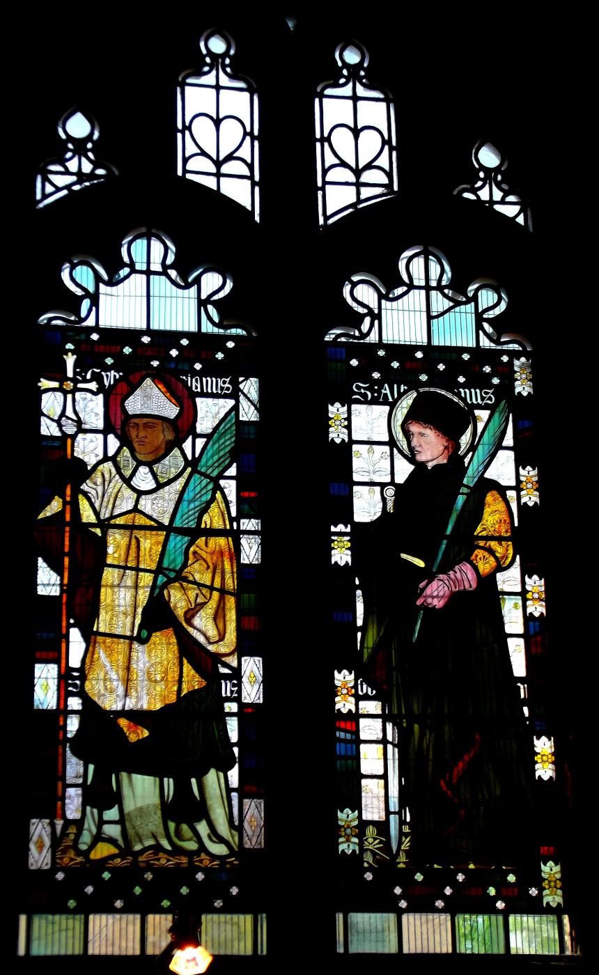 Уильям Моррис. Витраж в соборе Брэдфорда, на Стотт-Хилл, Брэдфорд, Западный Йоркшир, Англия