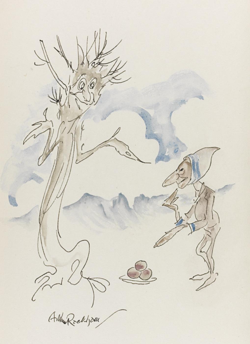 Arthur Rackham. Goblin