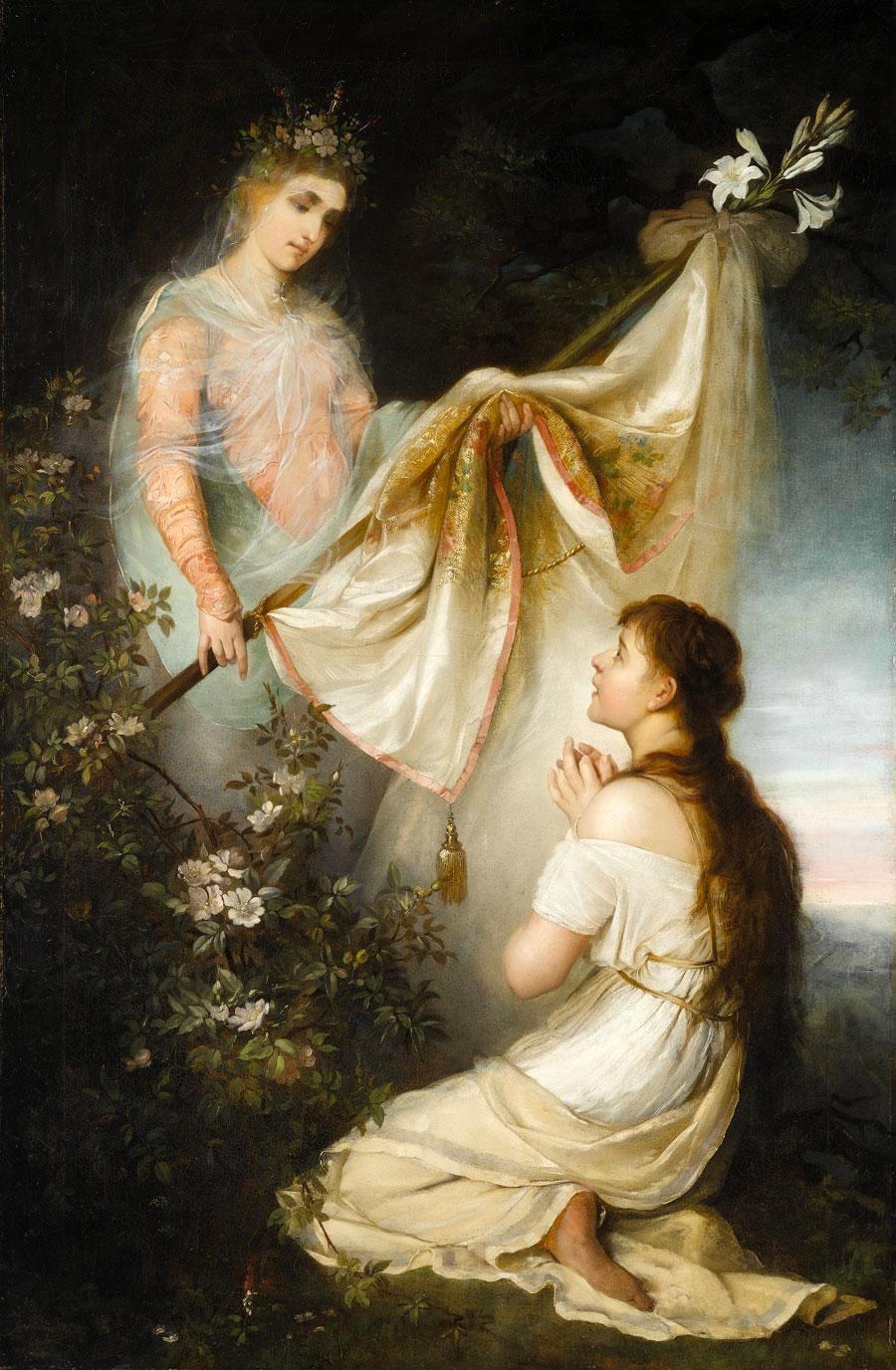 Генрих Ипполитович Семирадский. Joan of Arc kneeling before angel