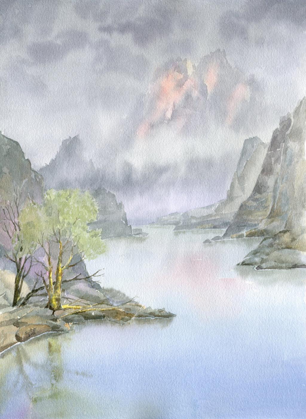 Smbat Arayevich Bagdasaryan. Lake