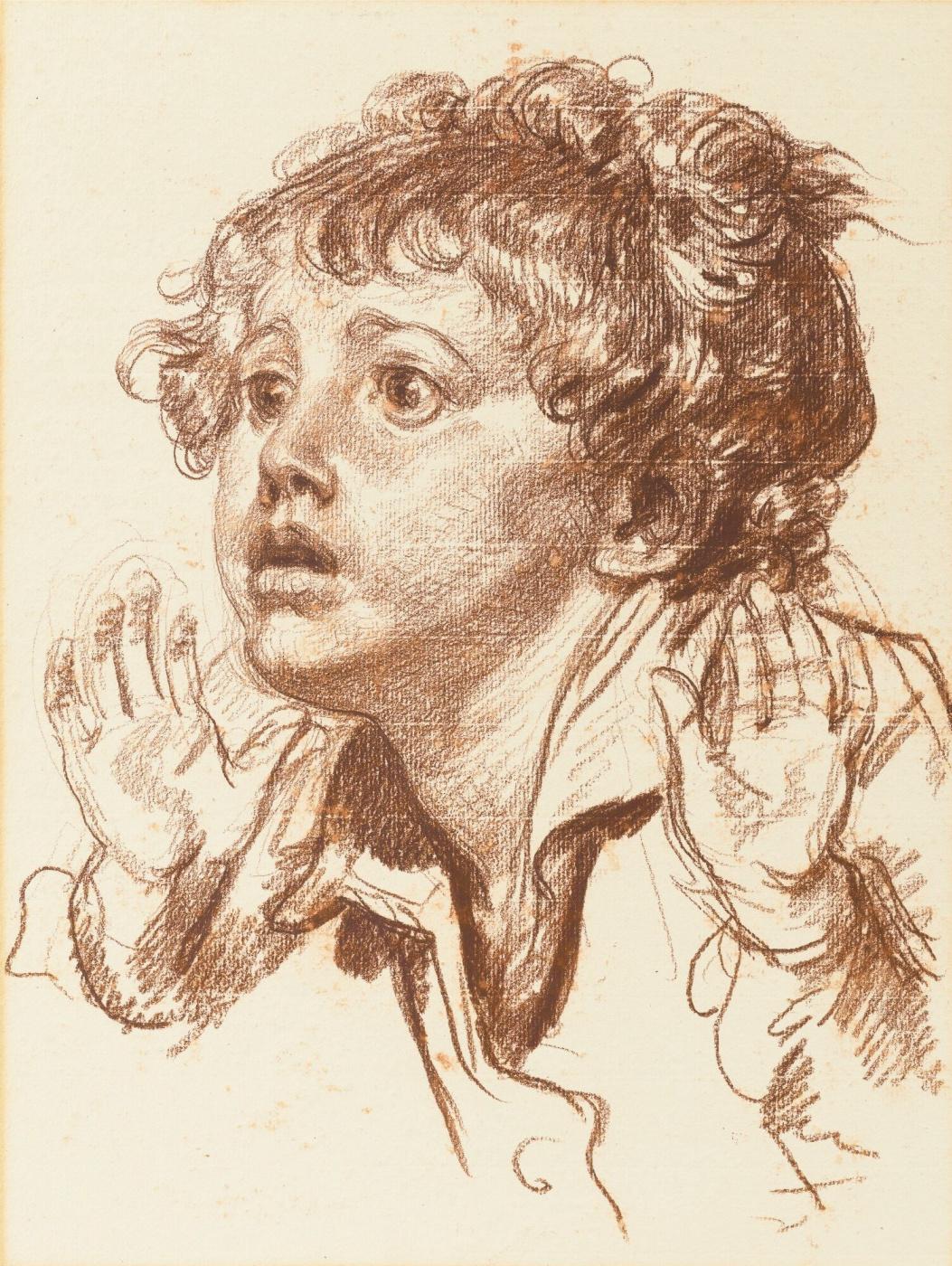 Jean-Baptiste Greuze. Scared boy