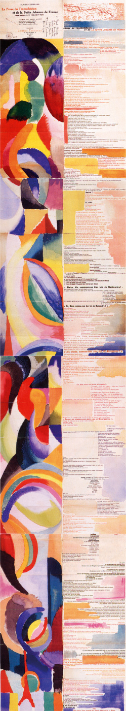 """Sonia Delaunay. The book is """"Prose about the TRANS-Siberian Express and little Jeanne French"""""""