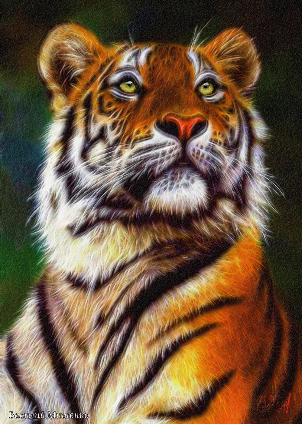 Vasiliy Mishchenko. Tiger's gaze