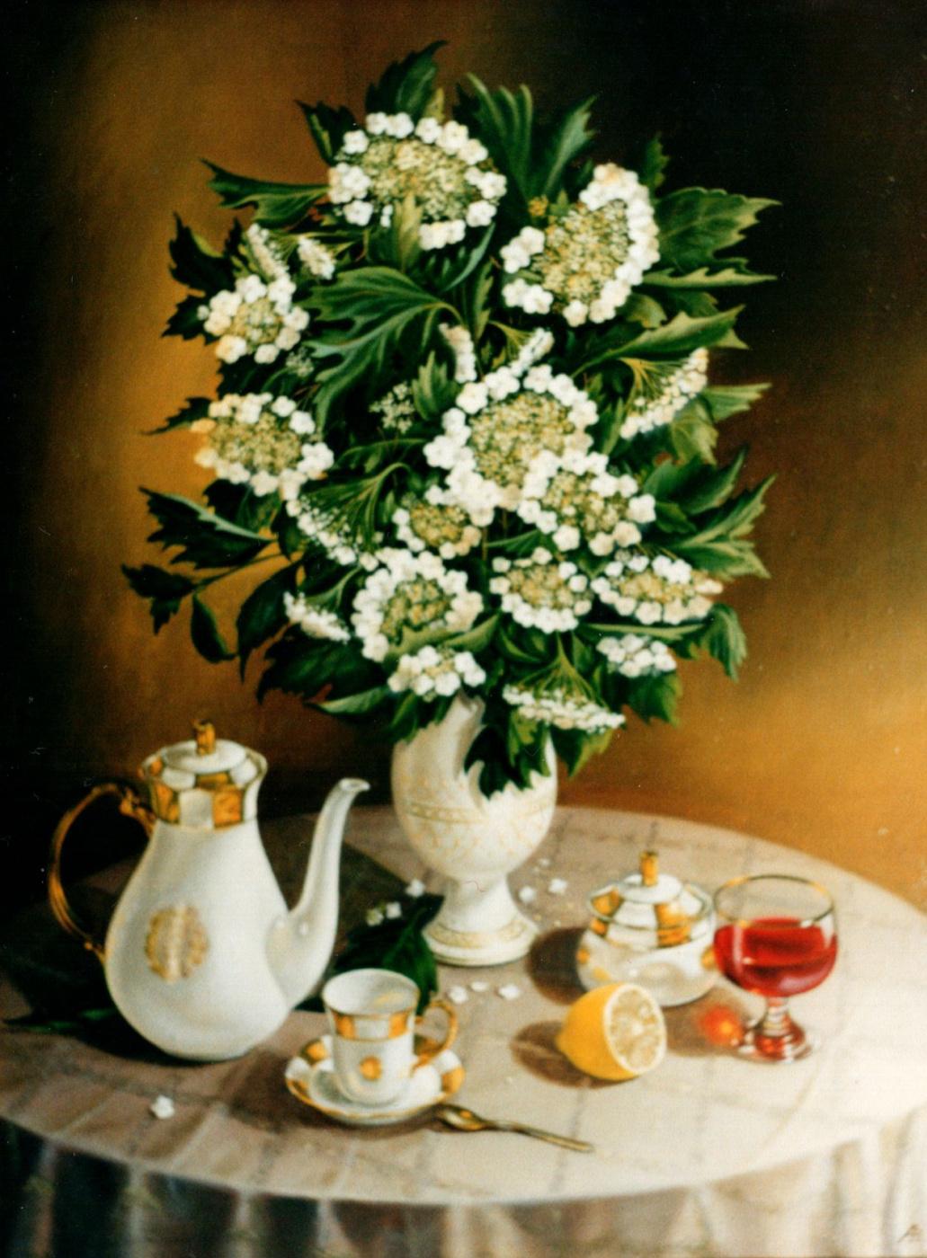 Vladimir Vasilyevich Abaimov. The White Snowball Tree