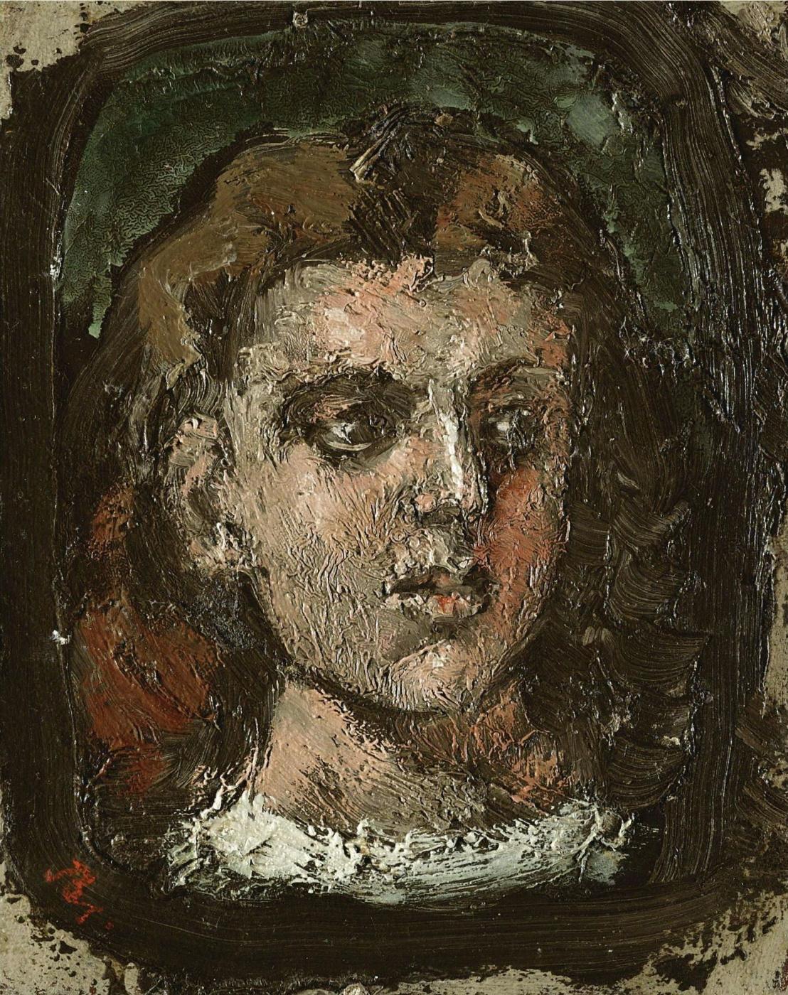 Balthus (Balthasar Klossovsky de Rola). White collar