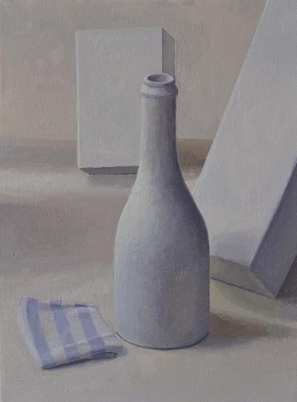 Pavel Viktorovich Petrov. Still life with white bottle