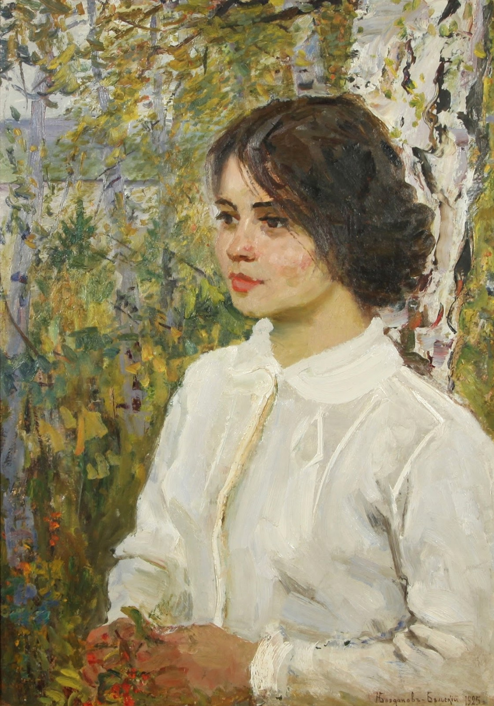 Nikolay Petrovich Bogdanov-Belsky. Autumn reflections