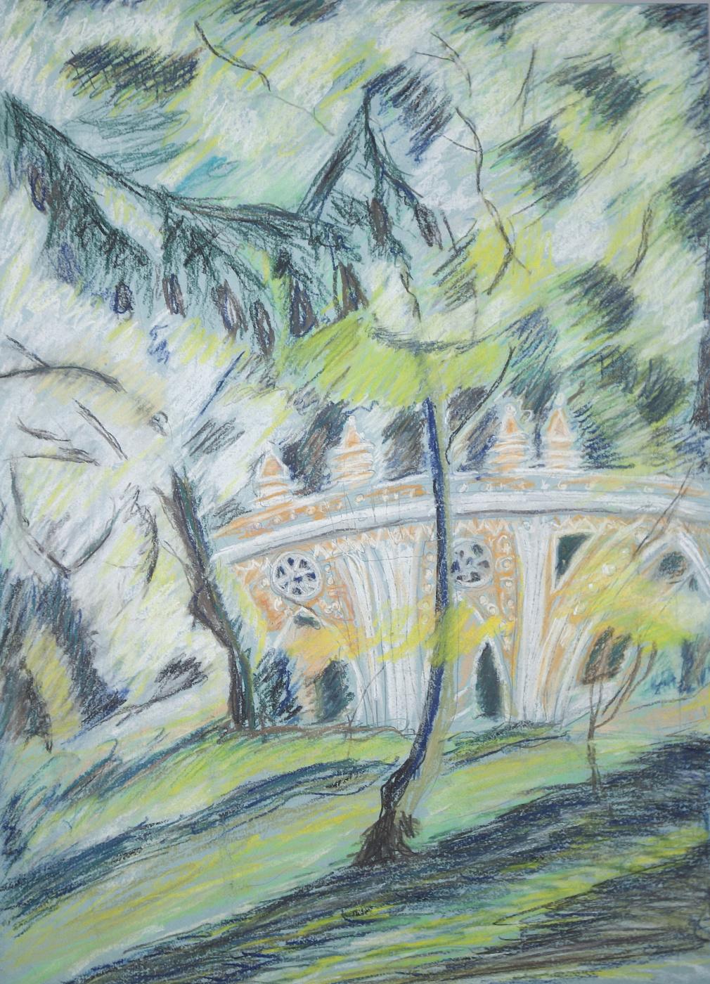 Natalia Alexandrovna Yudintseva. Big bridge over the ravine. Tsaritsyno