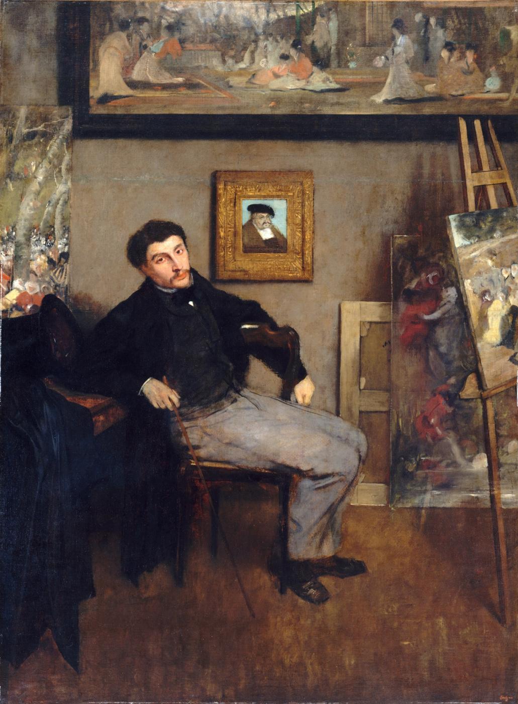 Edgar Degas. Portrait Of James Tissot