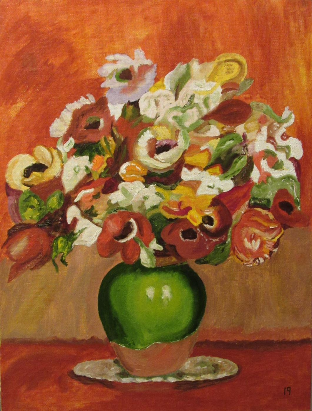 Artashes Vladimirovich Badalyan. Renoir. Flowers - x-hardboard-m - 40x30
