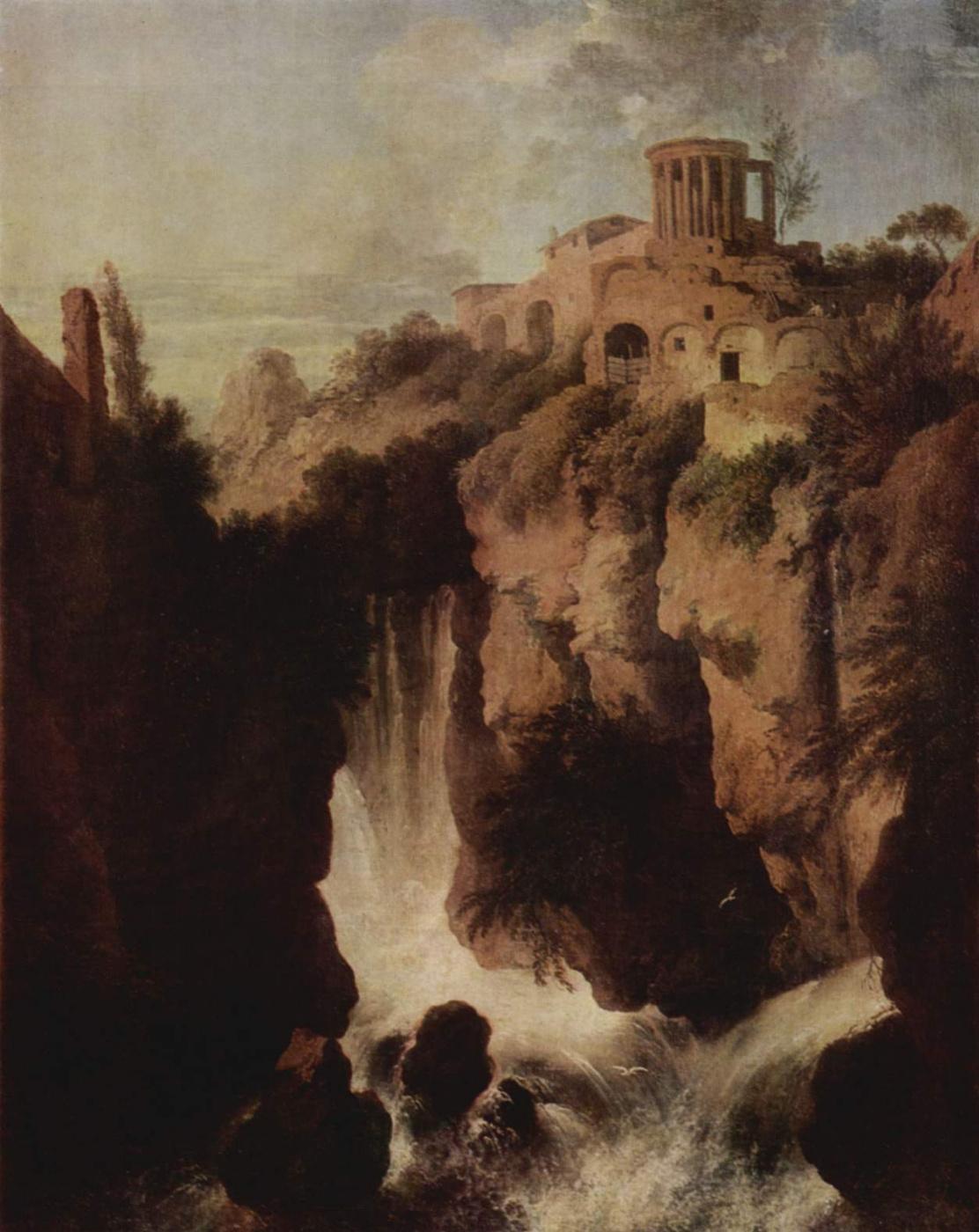 Christian Wilhelm Ernst Dietrich (Dietrich). Waterfall in Tivoli