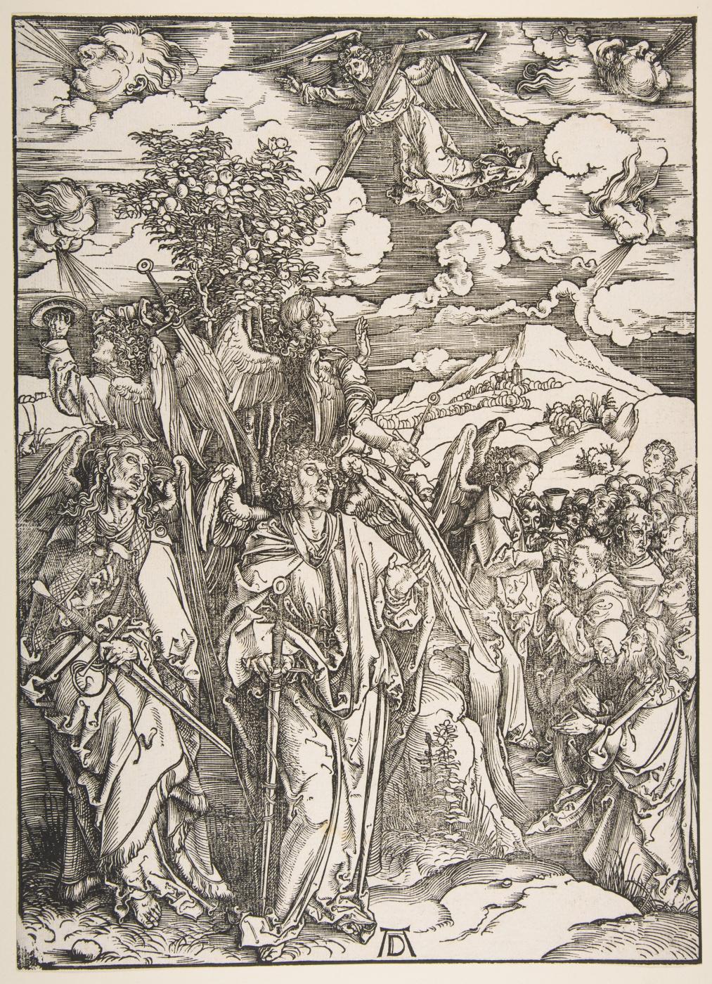 Albrecht Dürer. Angels holding the four winds