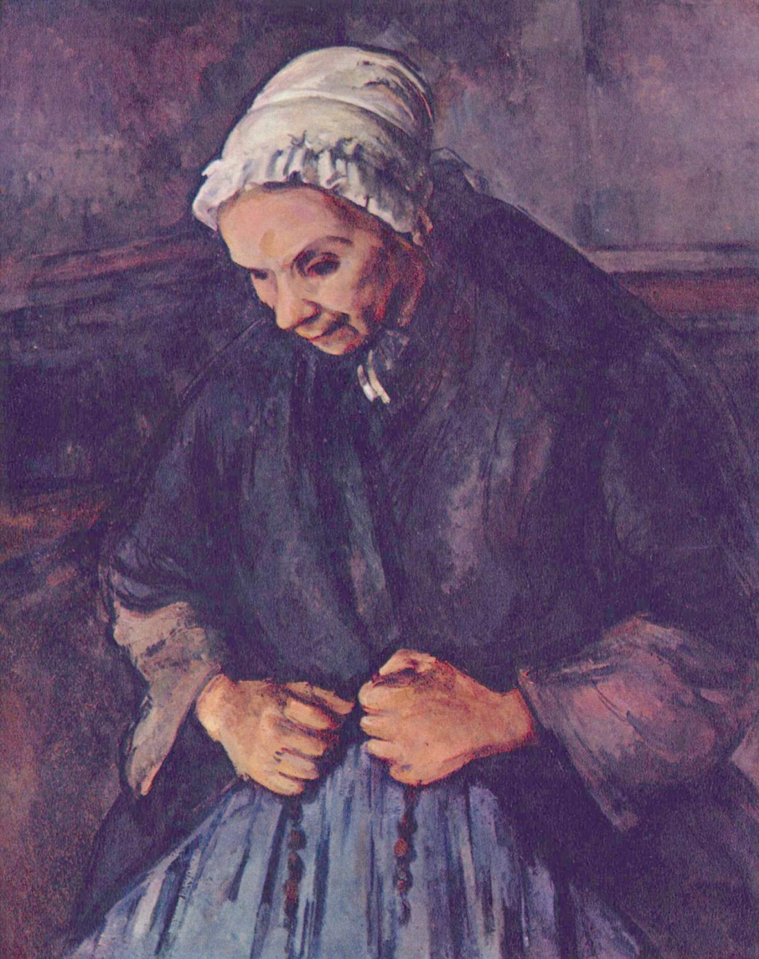 Paul Cezanne. The old woman with a rosary