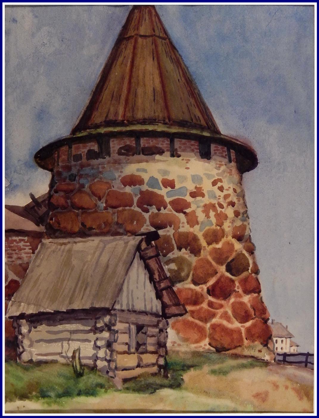 Виктор Георгиевич Ефименко. Башня на Валааме. 1972