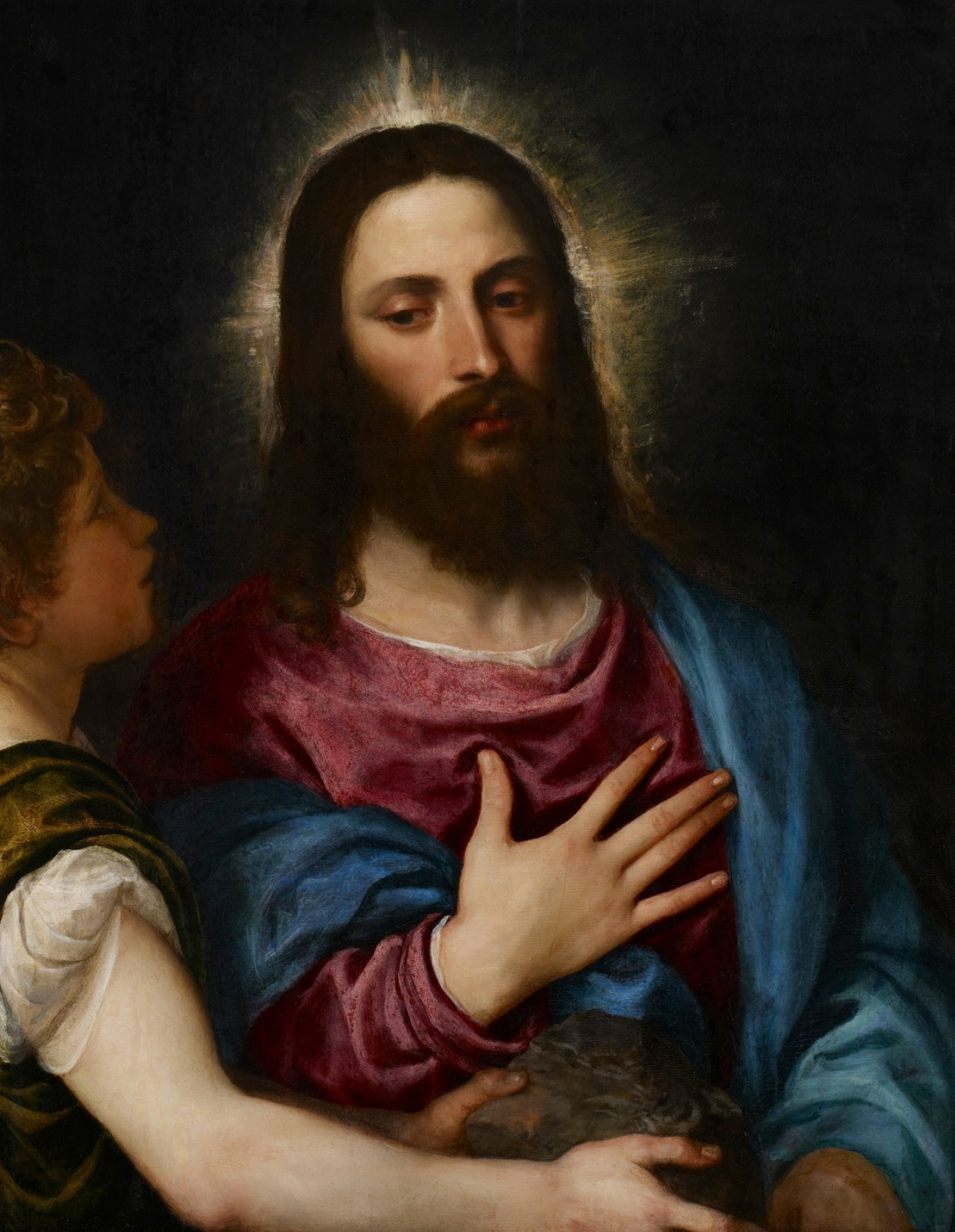 Titian Vecelli. The Temptation Of Christ