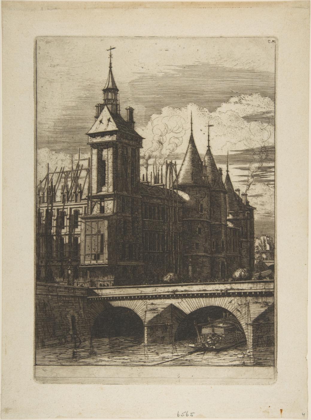 Charles Merion. Clock Tower, Paris