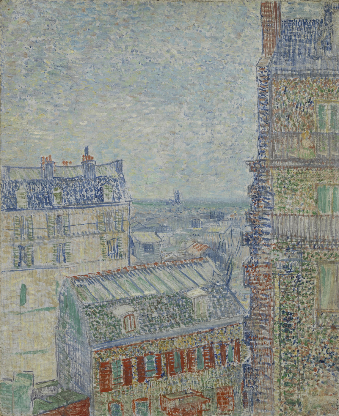 Vincent van Gogh. View of Paris from room in Rue LePic