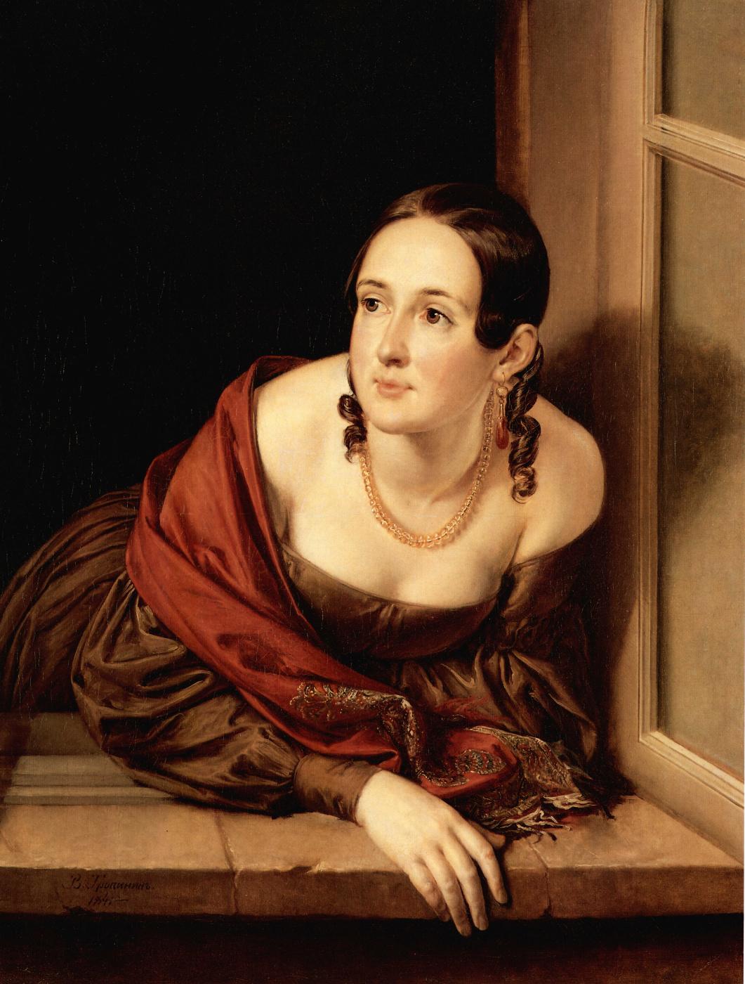 Vasily Tropinin. The woman in the window (Treasurer)