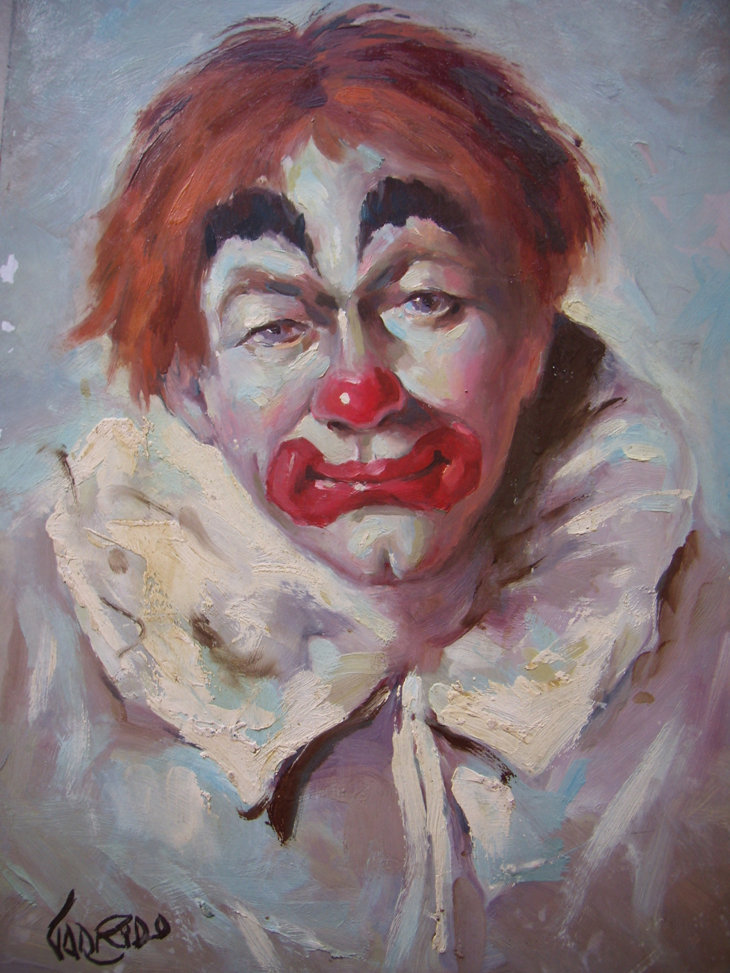 Unknown artist. Грустный клоун.