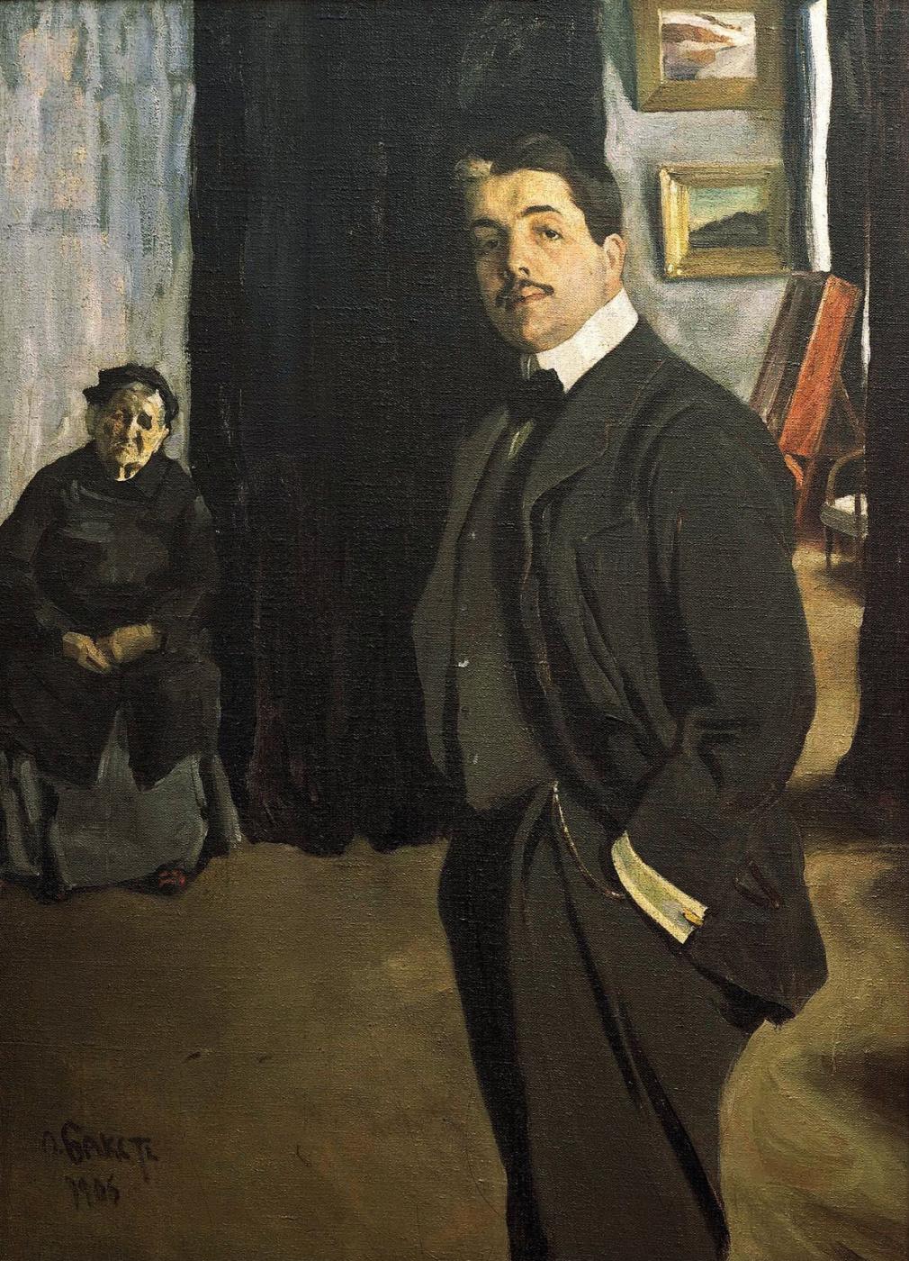Lev (Leon) Bakst. Portrait of Sergei Pavlovich Diaghilev with his nanny