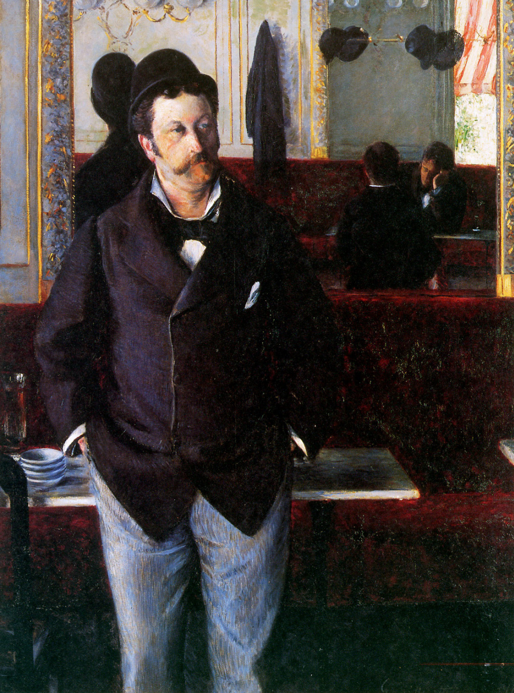 Gustave Caillebotte. In a cafe
