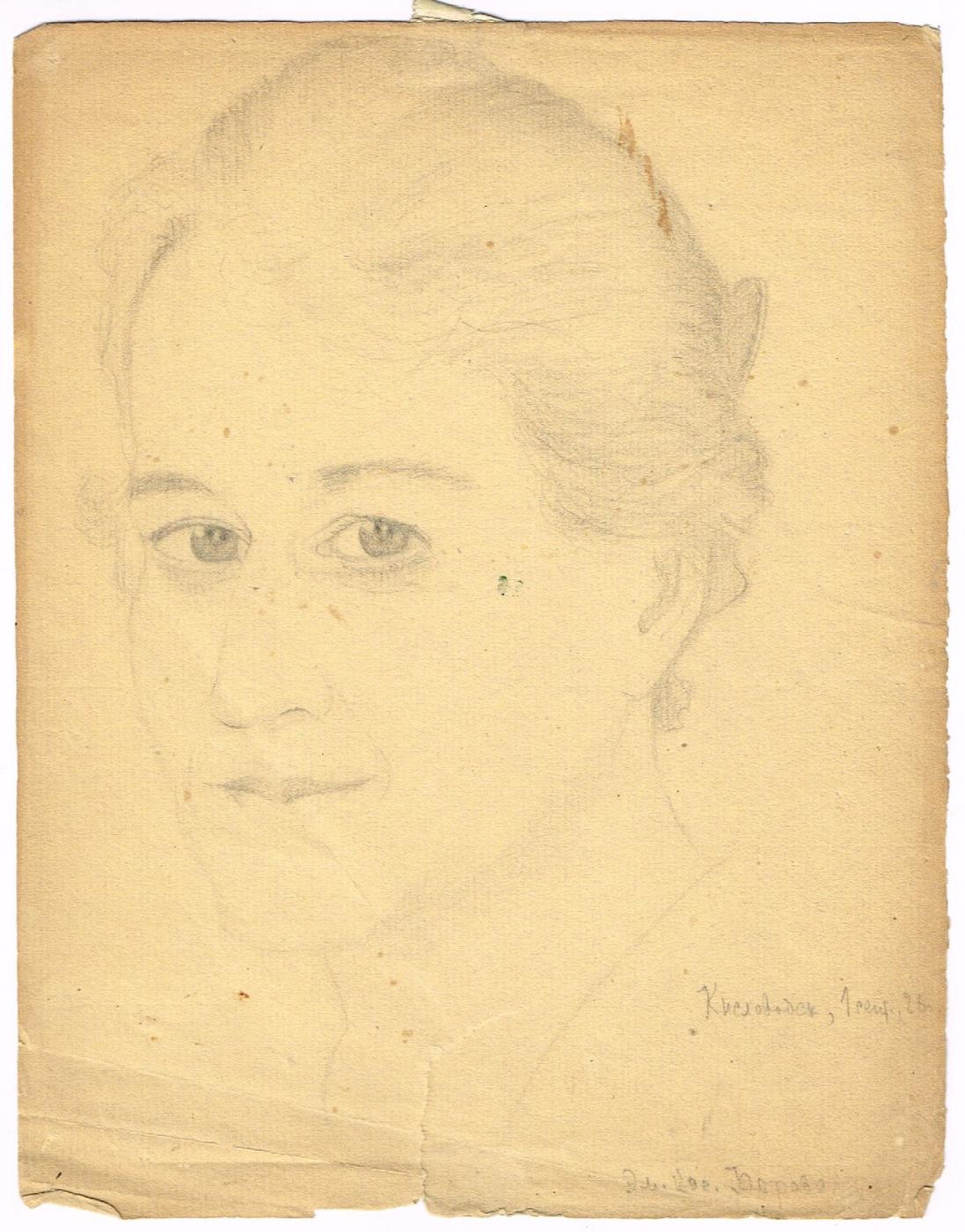Unknown artist. Portrait of E. D.