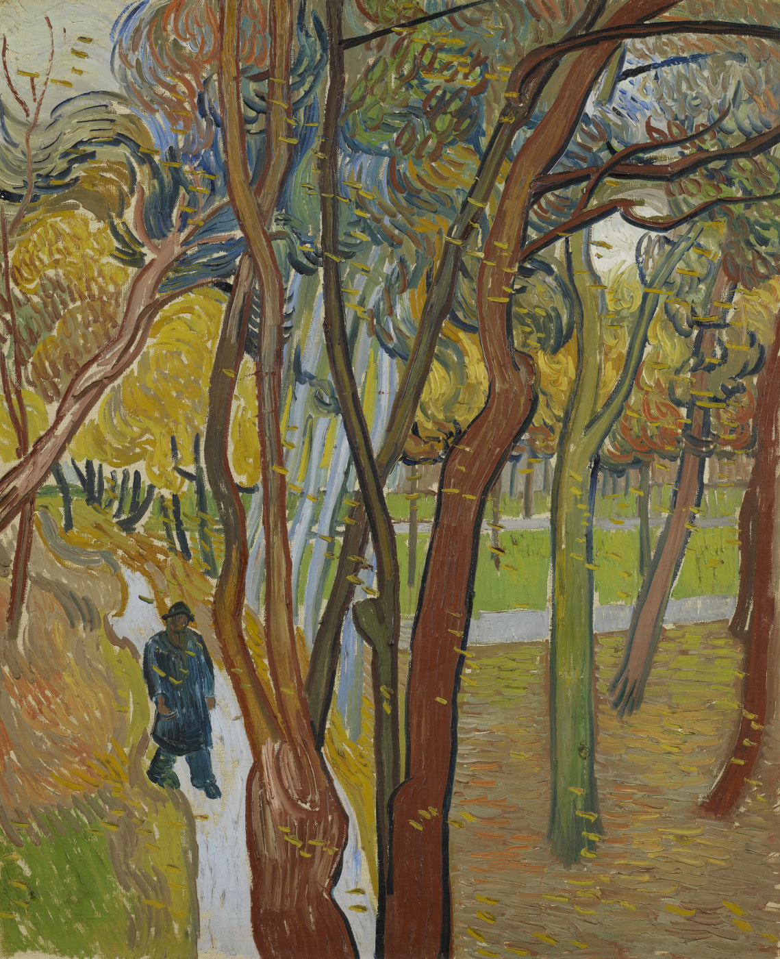 Vincent van Gogh. The leaf fall. Park hospital St. Paul's