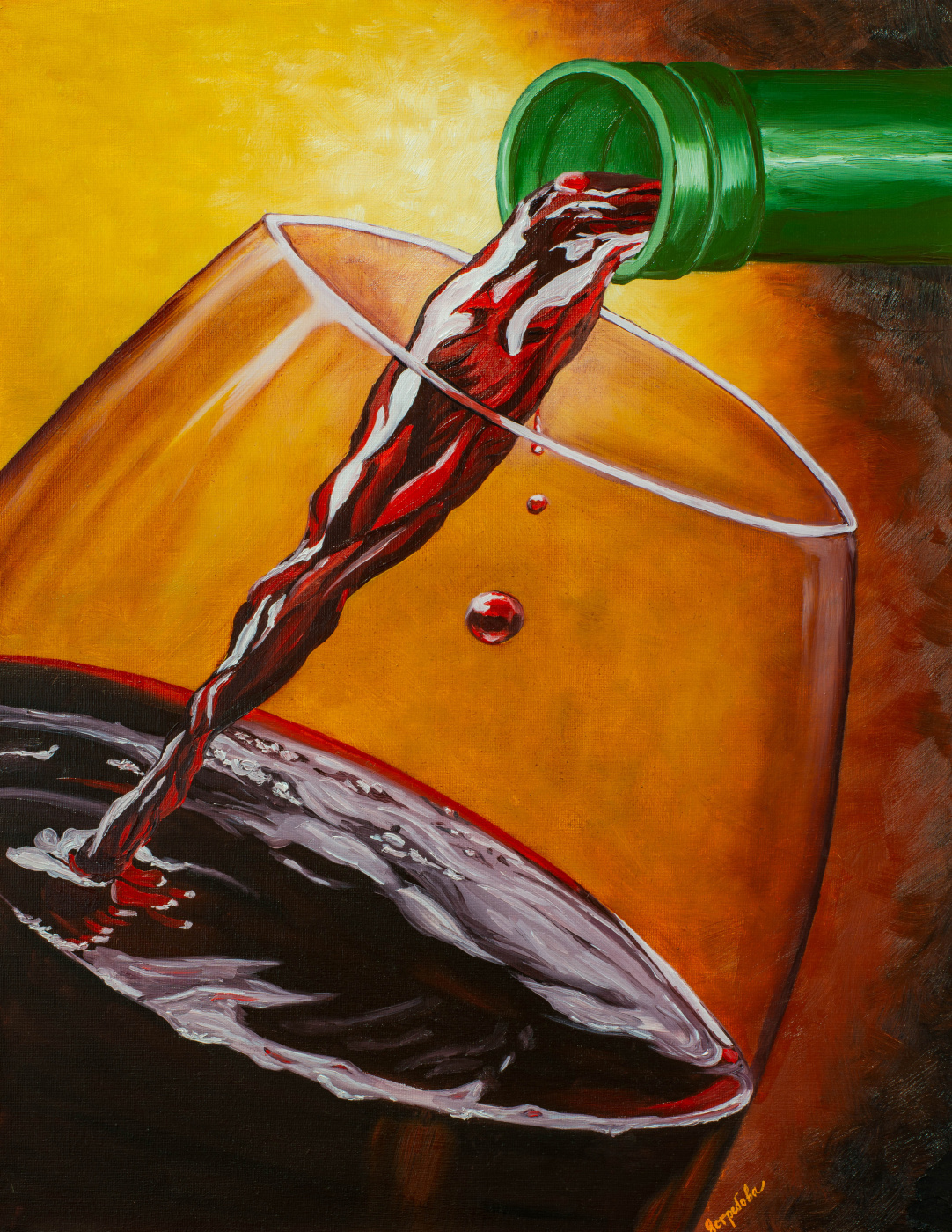 Arina Yuryevna Yastrebova. The wine is pouring
