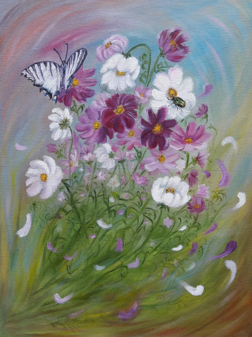 Nadezhda Nikolaevna Kravtsova. Flower fantasy