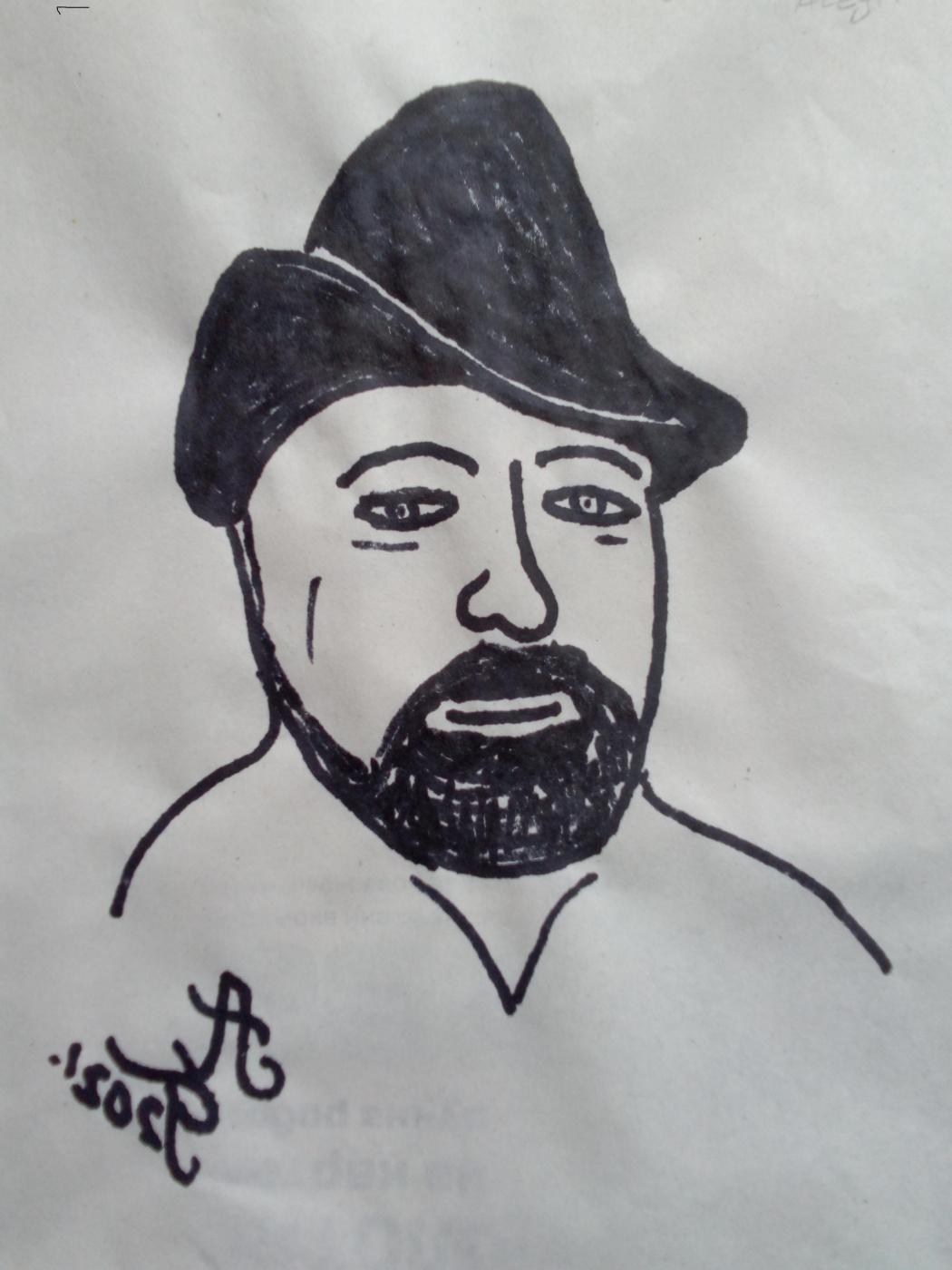 Alexey Grishankov (Alegri). In a black hat