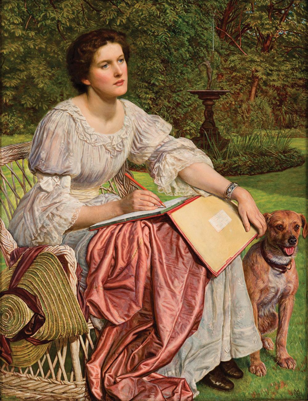 William Holman Hunt. School of nature. Portrait Of Gladys Holman Hunt