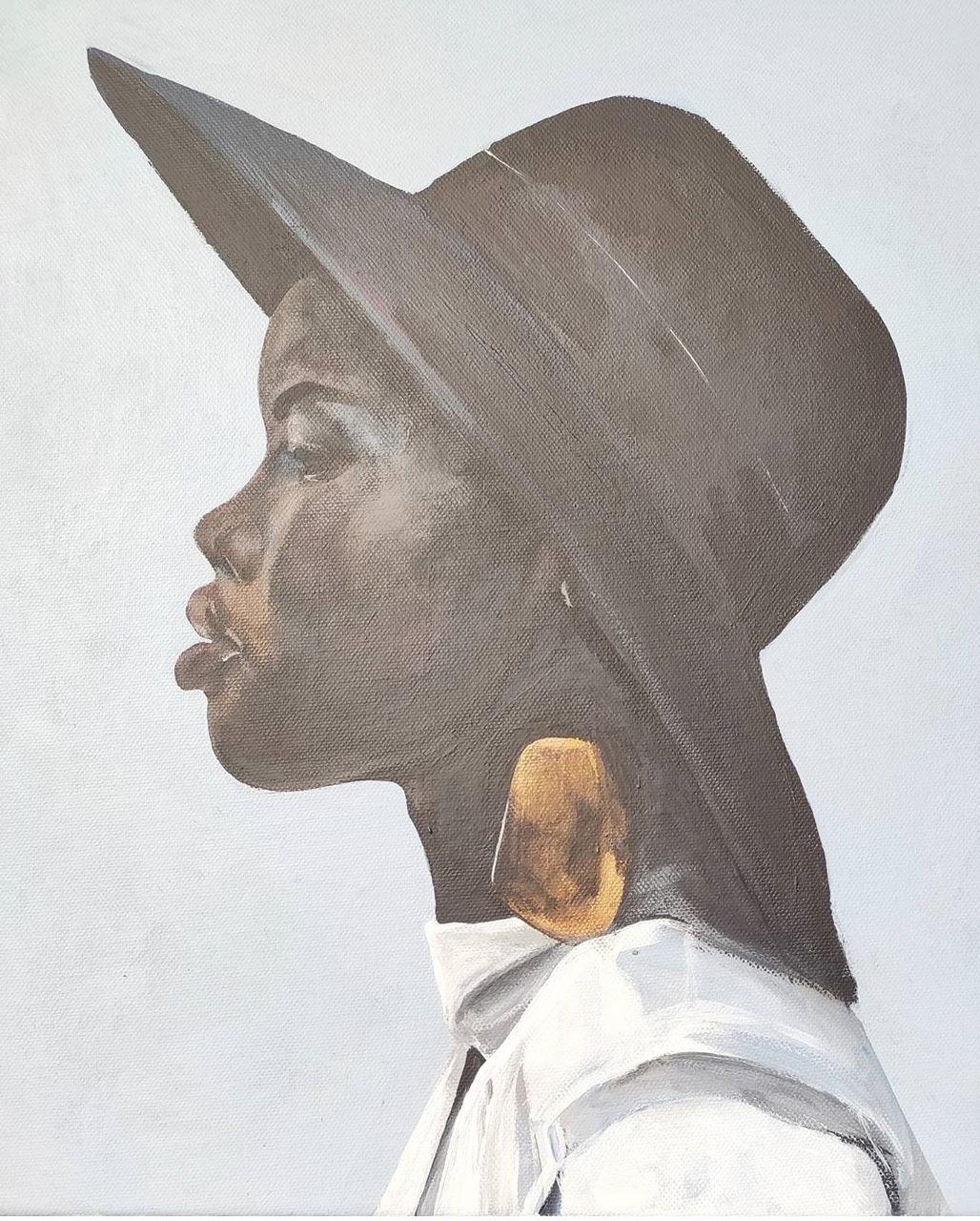Sandra Nadaraya. Girl in a hat