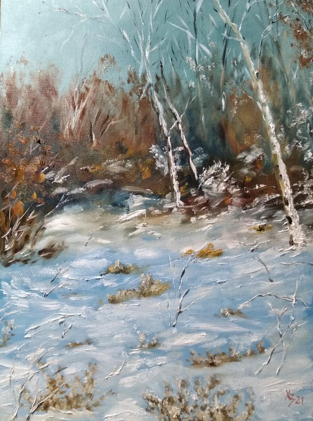 Sergei Nikolayevich Khodorenko-Zatonsky. Winter landscape