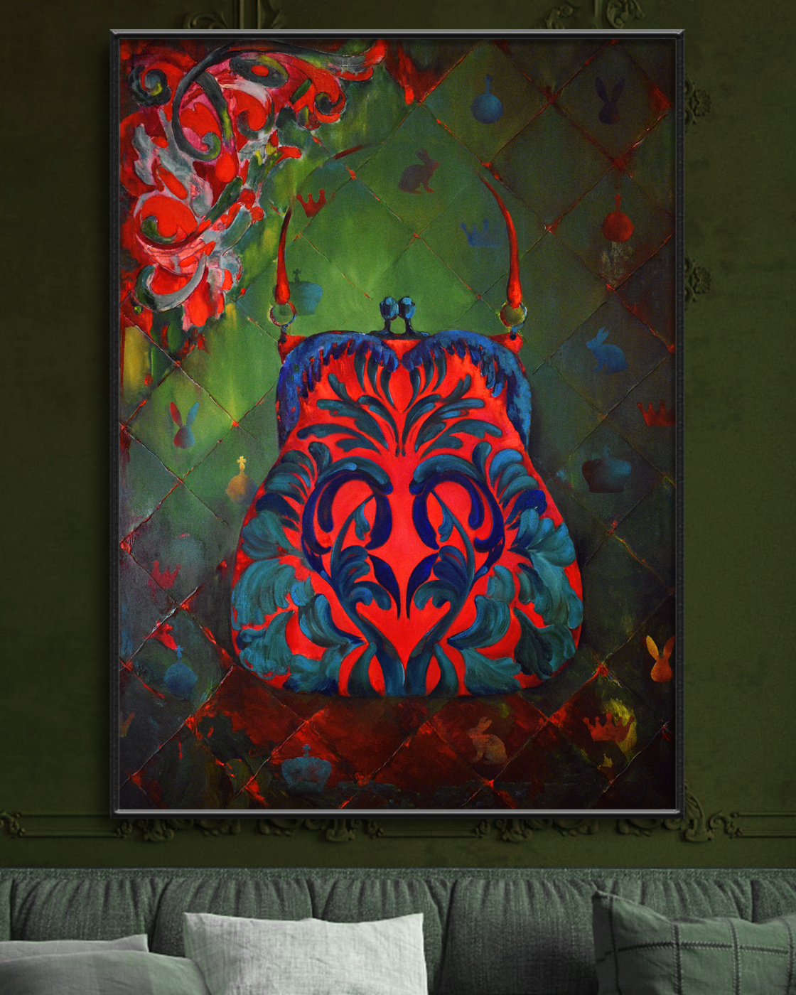 GLAMOUR AA 110*80 cm, original oil painting