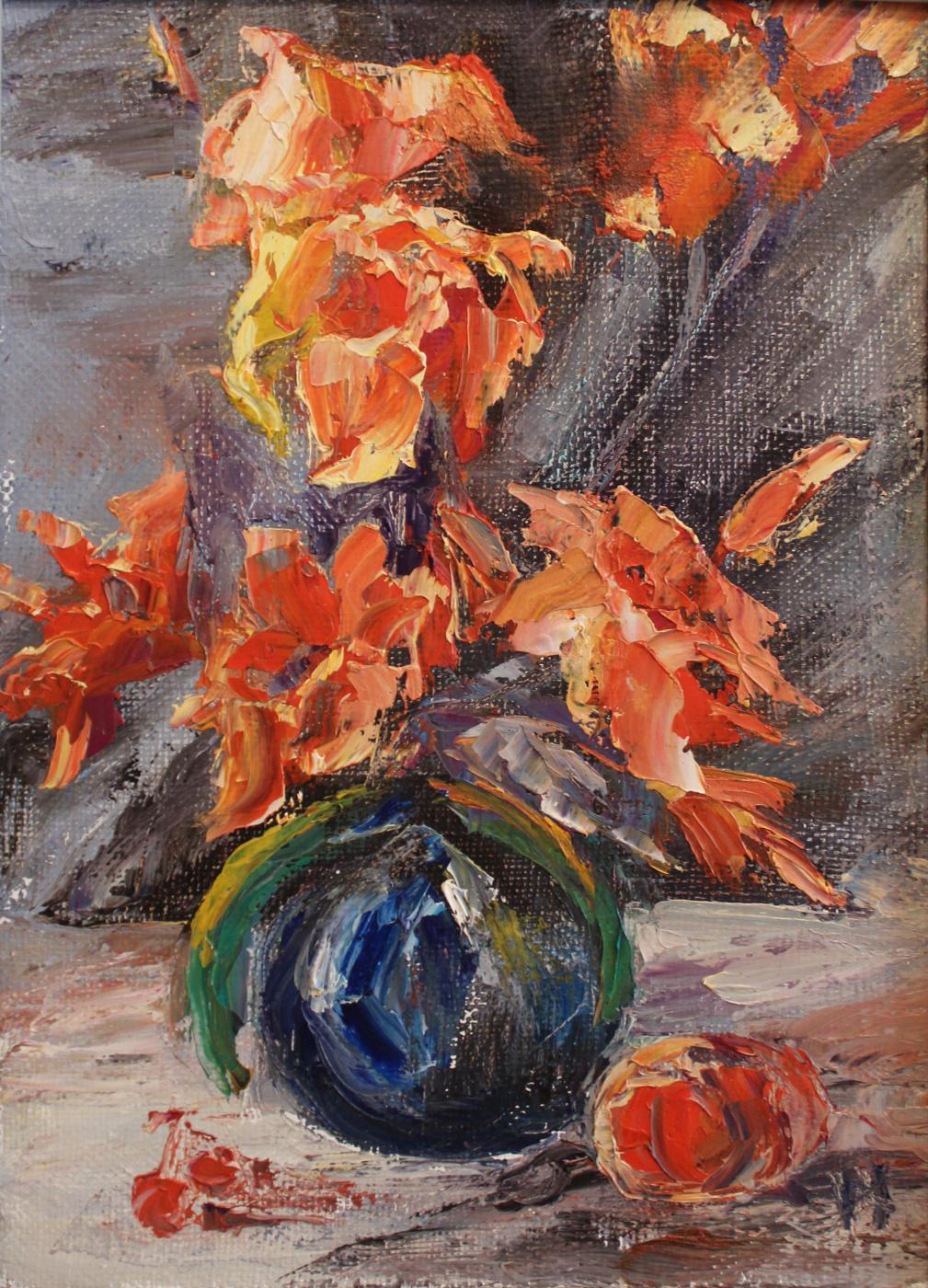Love Sergeyevna Nikulina. Red lilies