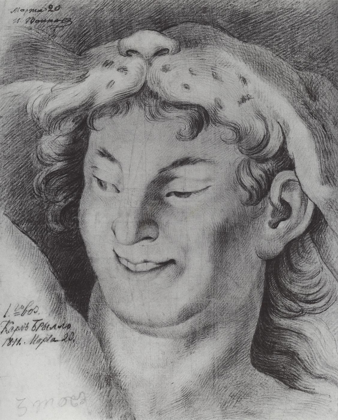 акварельный рисунок гений искусства брюллов эффектное