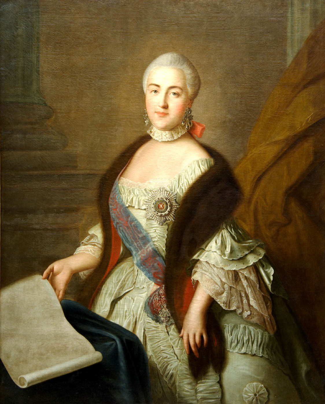 Ivan Petrovich Argunov. Portrait of Grand Duchess Yekaterina Alexeyevna