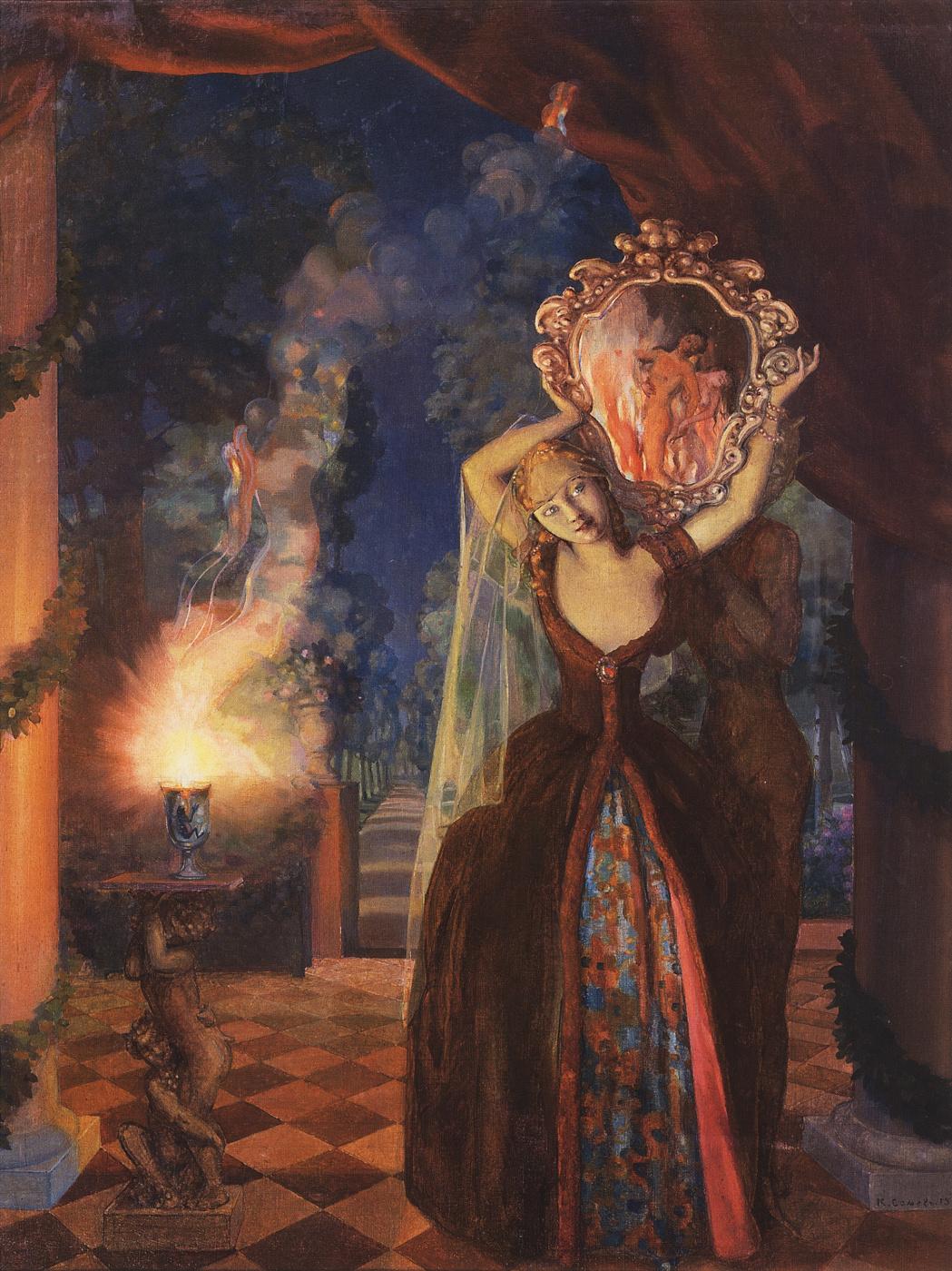 Konstantin Somov. Sorceress