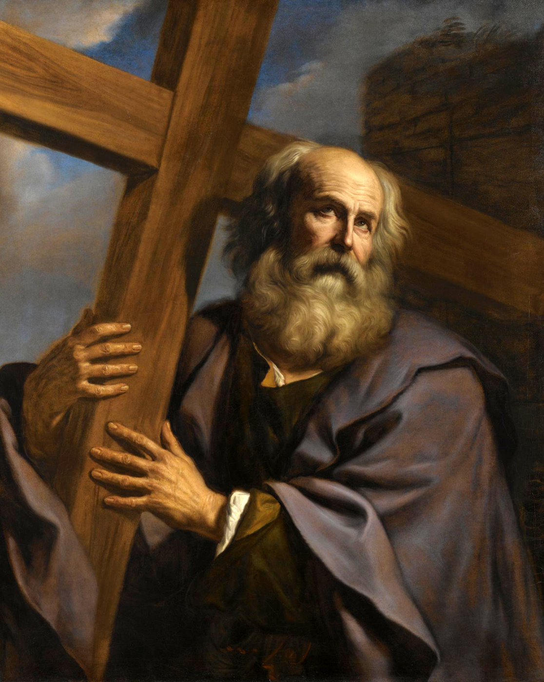 Giovanni Francesco Guercino. St. Andrew carrying his cross.