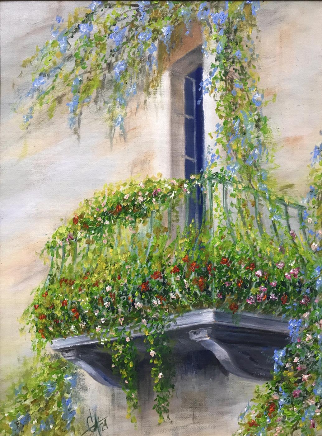 Svetlana Arkhipova. Balcony in flowers