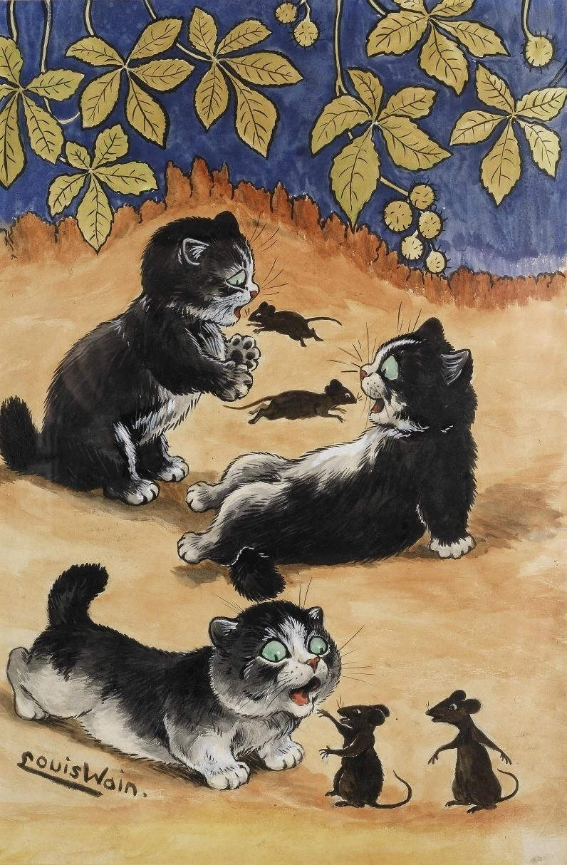 Louis Wain. Time to play