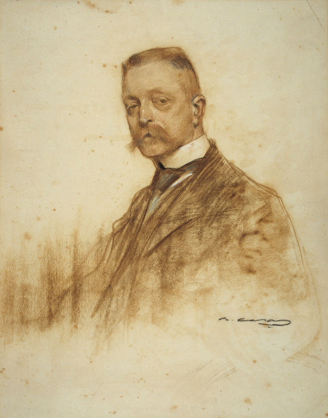 Ramon Casas i Carbó. Portrait of Emil Berto