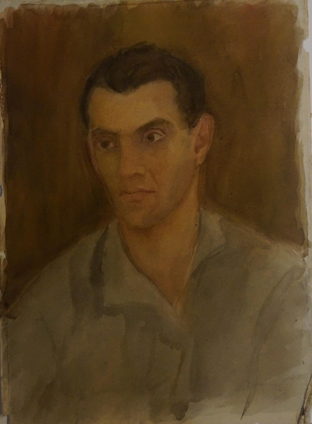Alexandra Antonovna Gladun. Portrait of a husband