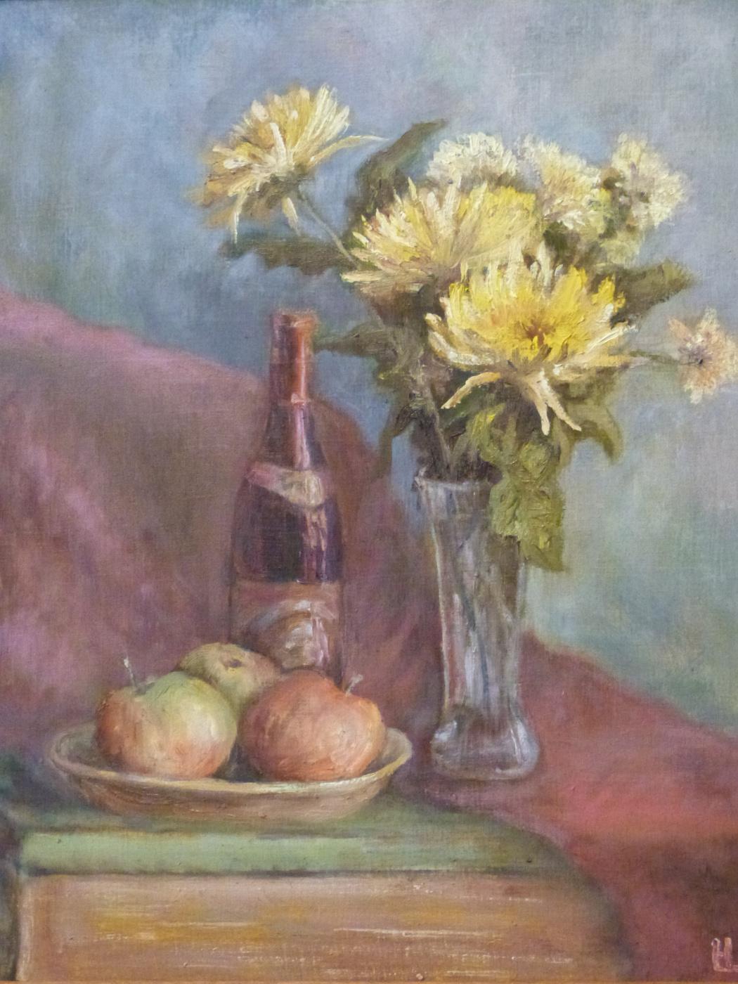 Nadezhda Georgievna Shatskaya. Yellow chrysanthemum