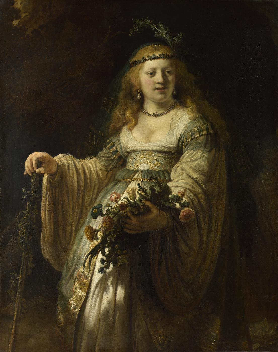 Rembrandt Harmenszoon van Rijn. Portrait of Saskia in Arcadian costume