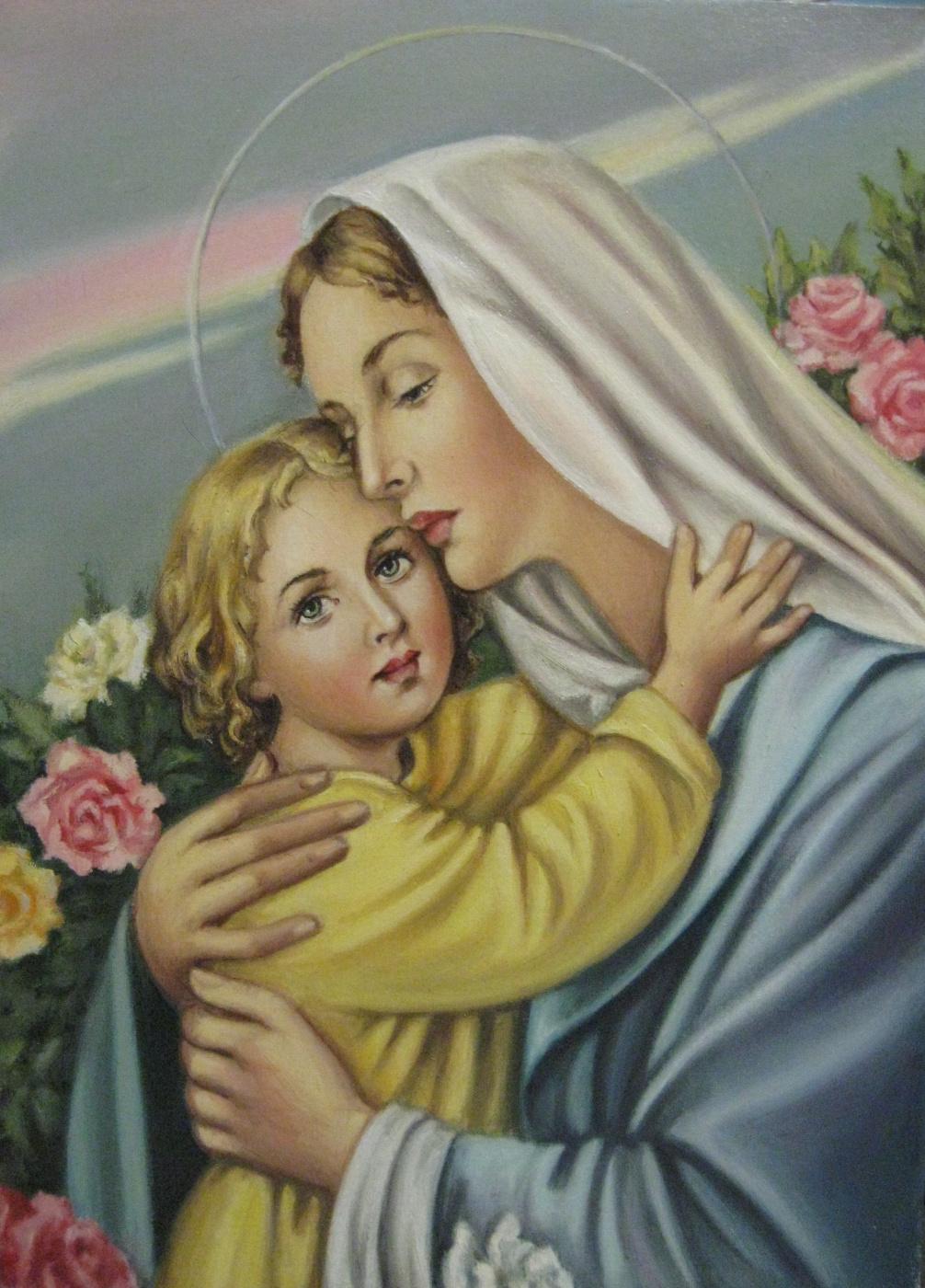 Ядвига Сенько. Virgin Mary with Jesus