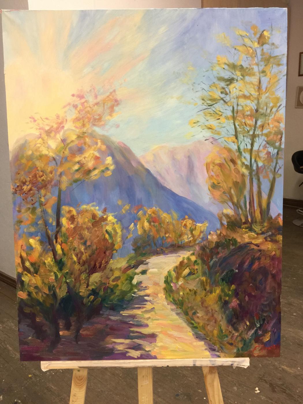 Elena Chelyubey. Tibetan trails