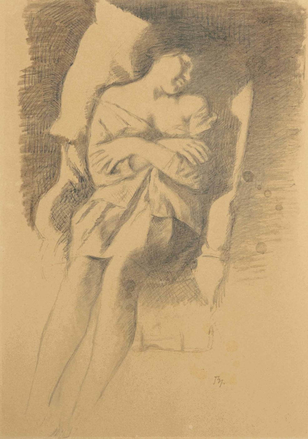 Balthus (Balthasar Klossovsky de Rola). Katya is sleeping